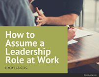 Jimmy Lustig | How to Assume a Leadership Role at Work