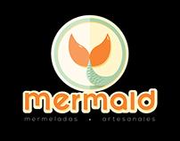Mermaid, mermeladas artesanales logo.