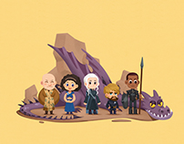 《Game of Thrones》人物插画系列(一)