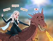 Dracarys! // Fanart illustration