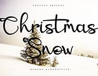Christmas Snow Handwritten Font