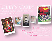 'Lelly's Cakes' | Promotional Material Designs