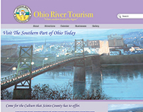 Ohio River Tourism Website Layout