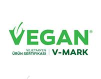 Vegan V-Mark Logo Work