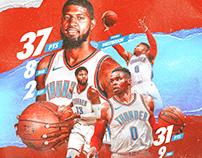 Russell Westbrook & Paul George | Oklahoma City Thunder
