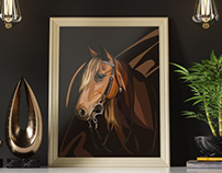 Poster. Horse
