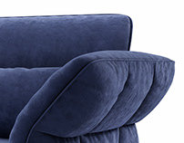 Cierre Eva Due armchair 3d model