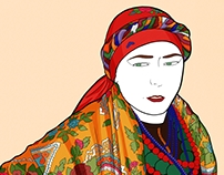 Cossack woman in Kiev