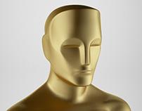 Oscar Award 3d model