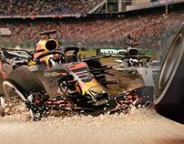 F1 Redbull 2018 Crash