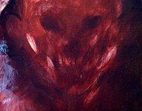 Painting - Gods of Terror - Head 5