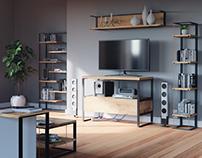 Visualisation of wooden furniture