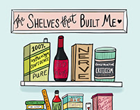 The Shelves That Built Me Illustration