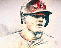"Mike Trout: 16x20"" Digital Illustration"