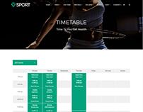 Timetable Template - Sport WordPress Theme