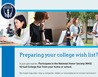 National Honor Society Virtual College Fair Materials