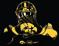 Iowa Football: Mail Re-Design