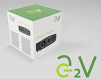 A2V - product line logo and packaging