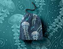 Jellyfish! Seamless patterns set