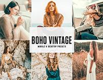 Free Boho Vintage Mobile & Desktop Lightroom Presets