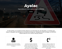 Web de Abogados Ayalac Wordpress Bootstrap 4