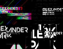 Glitch logo animation Alexander Spark
