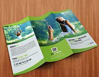 Tri- Fold Yoga Brochure