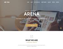 Arena - Resposnive App landing template