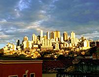 Fotografia do pôr do sol de Belo Horizonte