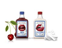 Sex & Orgasm - Liquor Bottle Branding
