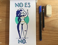 no es no | feminist illustration