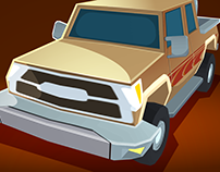 3D car for a phone game