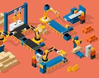 3D Lego Industry Mechanism Loop