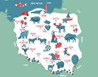 Polish map for children