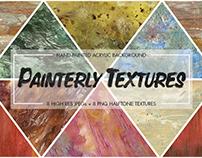 Painterly Acrylic & Halftone Textures