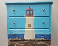 Custom Painted Dresser: LIGHTHOUSE