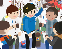 ILLUSTRATION FOR PEPSI IMC 2015