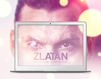 Zlatan Ibrahimovic Landing Page