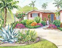 Watercolor Landscape Rendering