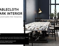Rectangular Tablelcoth in Dark Interior Set