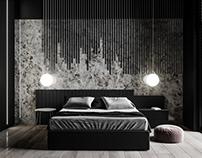 Minimal Dark Bedroom