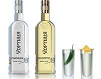 Gold and silver bottles for Khortytsa