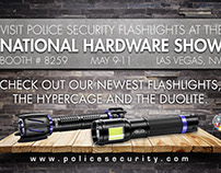 National Hardware Show with Police Security Flashlights