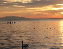 Walking, rowing and running in Lausanne