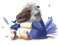 fuluffy dinosaur