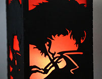Wood Spike Spiegel Light Box
