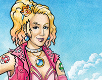 Punk Rock Princess Peach