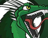 GreenDragon Mascot Logo.
