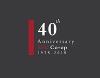 SFU Co-op 40th Anniversary Logo