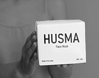 Packaging & Flyer Design for HUSMA Face Mask